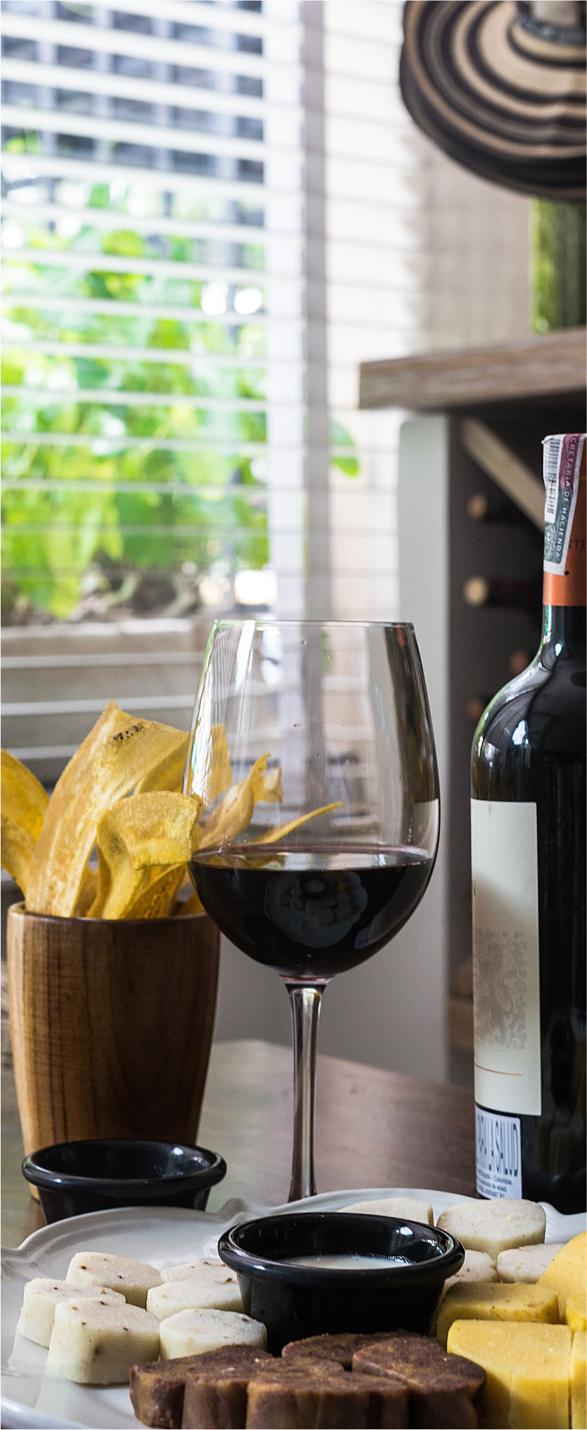 tajadas y vino